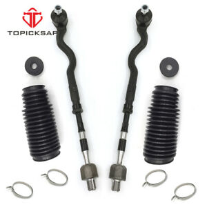 Tie Rod Bellows Front Driver Passenger Side Pair Set For Bmw E46