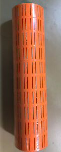 30 Rolls 15000 Tags Orange Labels For Motex Mx 5500 L5500 Mx989 Price Gun 65