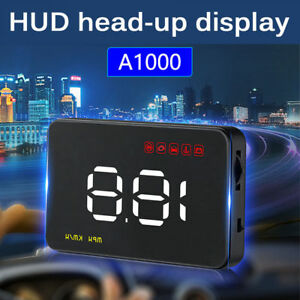 Safety Universal A1000 Hud 3 5 Head Up Display Speed Warning Obdii Over W5z6j