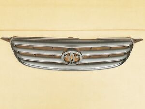 Fits 2003 2004 Toyota Corolla Front Bumper Radiator Grille Upper Gray W Chrome