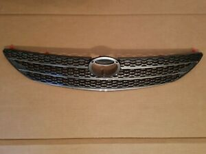 Fits 2002 2004 Toyota Camry Le Xle Front Bumper Radiator Grille Gray W Chrome