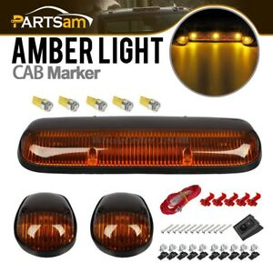 3xamber Cab Top Clearance Lights 5x194 5050 Amber Leds W Wire Car Truck Off Road