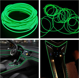 Universal Car Auto Interior Led Decor Wire Strip Atmosphere Cold Light Green 4m