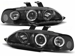 Honda Civic 1991 1992 1993 1994 1995 Headlights Lpho02 Angel Eyes