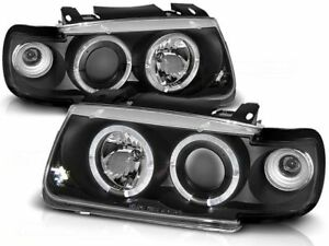 Volkswagen Polo 6n Hb 1994 1995 1996 1997 1998 1999 Lpvw09 Headlights Halo Rims