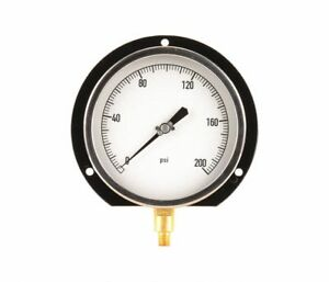 Pressure Gauge 1 4 Npt 0 To 200 Psi 6 11a518 A4