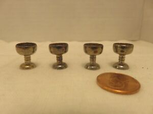 Vintage Sterling Silver Dollhouse Miniatures Goblets Cups Wine Cups Lot Of 4