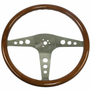 Empi 79 4055 6 Classic Vw Bus Steering Wheel 18 Wood 31mm Grip