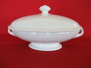 T R Boote Ironstone 11 Inch Covered Soup Bowl Or Tureen Senate