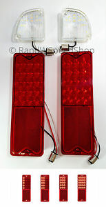 Kit 67 72 Chevy Gmc Truck Fleetside Led Reverse Lamps Sequential Tail Lights