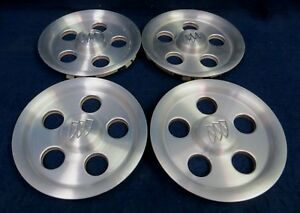 Buick Lesabre 00 02 Park Avenue 98 00 Machined Center Caps Set Of 4 Oem
