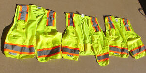 Radians Safety Vest 3m Ansi isea Class 2 Size Large W Pockets