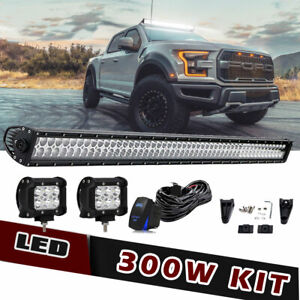 52 Offroad Led Light Bar W Universal Mount Bracket Fit 1995 2004 Toyota Tacoma