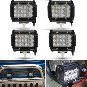 4 4inch Led Fog Driving Light With Clear Lens New Free Shipping Work Lamps