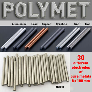 Pure Metal Round Bar For Electroplating Min 99 9 Anode Dia 8 X 100mm Element