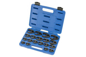 A 6900a 19pc Crow S Foot Wrench Metric Set 8 32mm Cr Mo 3 8 1 2 Dr Crowfoot