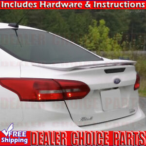2012 2013 2014 2015 Ford Focus 4dr Sedan Factory Style Spoiler Wing Primer