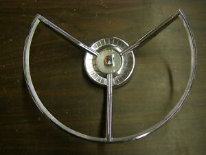Oem Ford 1959 Fairlane Power Steering Wheel Horn Ring Emblem Ornament Trim Nos