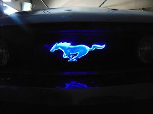 Light Up Ford Mustang Front Grill Emblem In Different Led Colors