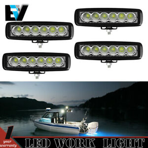 4 Pcs 4 Inch Round 6000k 18w Led Floodlight Fog Light Atv 4x4 Auxiliary Utility