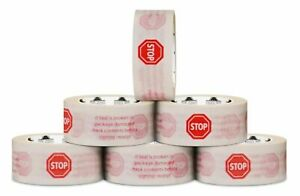 252 Rolls 2 X 110 Yds White Printed Packing Stop Sign Tape Carton Sealing 2 Mil