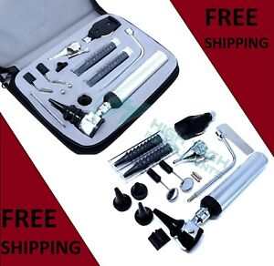 Professional Grade Ent ear nose throat Diagnostic otoscope ophthalmoscope Set