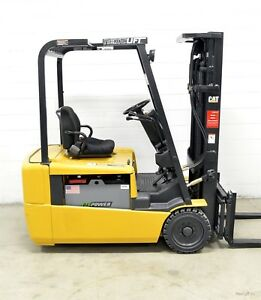 Caterpillar 4000 Lb 36v Electric 3 Wheel Forklift Cat Ep20kt Three Wheeler