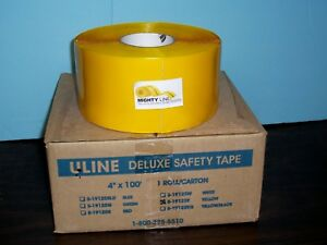 S 19125y Uline Deluxe Safety Tape Yellow 4 X 75 8 5 Lbs 60 Mil