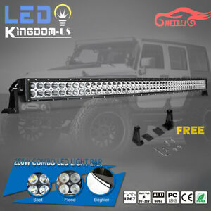 50inch 288w Curved Led Work Light Bar Offroad Foglight Truck For Jeep 4wd 52