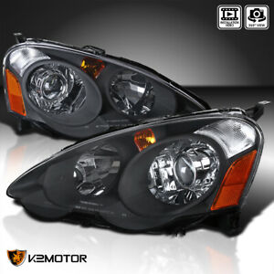 2002 2004 Acura Rsx Black Housing Clear Lens Retro Style Projector Headlights