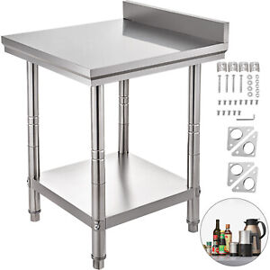 24 X 30 Stainless Steel Work Prep Table W Backsplash Kitchen Restaurant