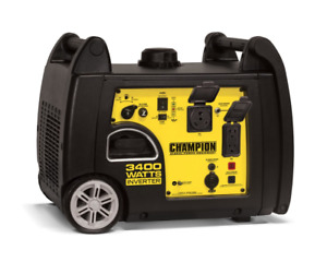 Champion Inverter Portable Gasoline Generator 3400 Watt 100233 New