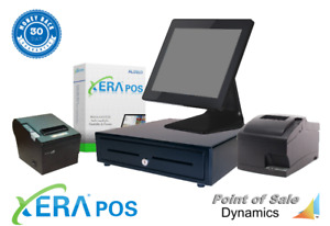 All In One Restaurant Point Of Sale Kitchen Printer System W Xera Pos Silver
