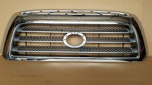Fits 2007 2009 Tundra Limited Front Bumper Silver Gray Grille W Chrome Frame