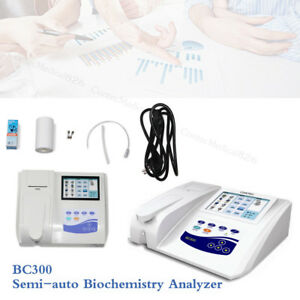 Bc300 Semi auto Biochemistry Analyzer Analyzing Blood And Fluid touch printer