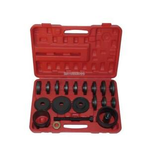 23pcs Front Wheel Drive Bearing Removal Adapter Puller Pulley Tool Kit W case