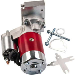 Fit Chevy 3hp Mini Starter Motor Red Dual Inline 153 168 Tooth 305 350 Sbc Bbc