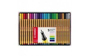 Stabilo Point 88 Fineliner Assorted Colours Wallet Of 25