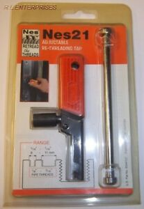 Nes 21 Adjustable Internal Thread Repair Tap Tool 5 16 7 16 8 11 Mm