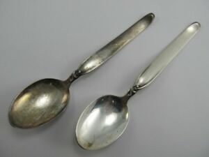 Wilkens Germany Sterling 2 Spoons 5 Xlnt Condition No Mono