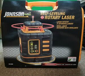 Johnson Self Leveling Rotary Laser New In Box 40 6539 B x