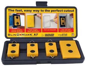 Blind Mark Drywall Electrical Box Locating Tool Kit 4 Pieces Stud Finder Cutout