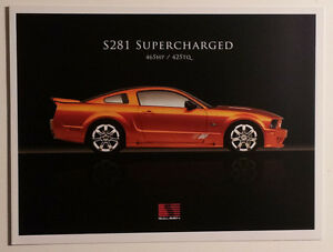 2007 Saleen Mustang S281 Supercharged Dealer Showroom Sales Folder Must See