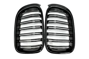 For 15 17 Bmw F26 X4 M40i X4m Style Piano Gloss Black Front Hood Grilles Grille