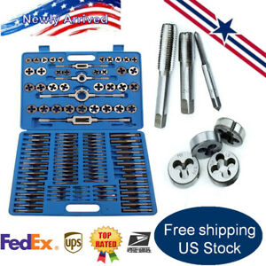 110pcs Tap And Die Set Metric Screw Extractor Remover Tools W Case