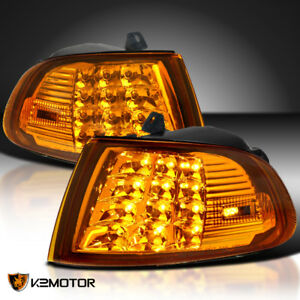 Fits 92 95 Honda Civic 2dr 3dr Eg Eh Amber Led Signal Corner Lights Left Right