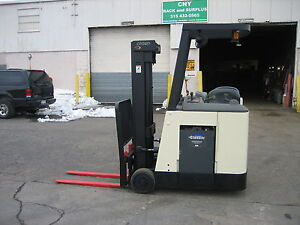2007 Crown Dockstocker Forklift With 2013 Battery 3000 190 Lift side Shifter