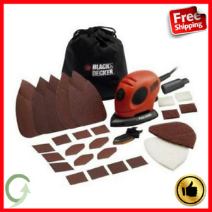 Black & Decker Detail Mouse Electric Hand Sander With Sanding Sheets Accessories