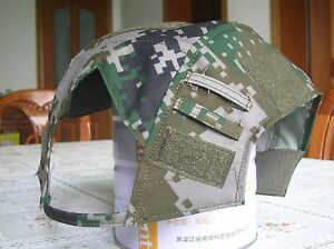 07's series China PLA Army Woodland Digital Camo FAST Helmets Cover
