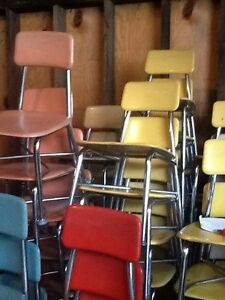 180 Vtg Heywood Wakefield Hey Woodite Student School Size Chairs Very Good